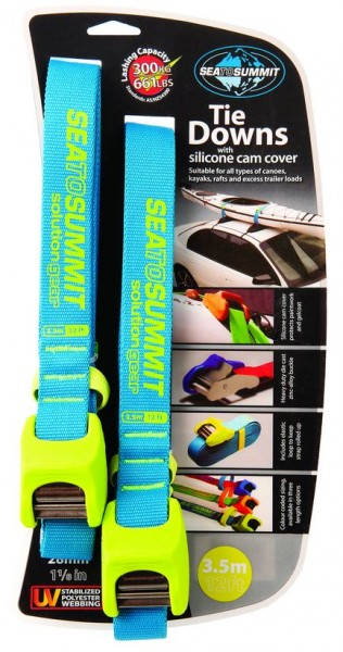 Tie Down Strap with Silicone Cam Cover 3.5m (Pair) - Lime