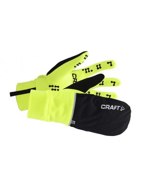 CRAFT Hybrid Weather Glove, wasserdichter 2-in-1-Handschuh und Fäustling - 1903014-2851 Flumino/Blac