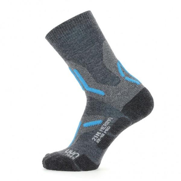 UYN Damen Trecking 2in Merino Mid Socken - S100238-J689 MidGrey/Turquoise