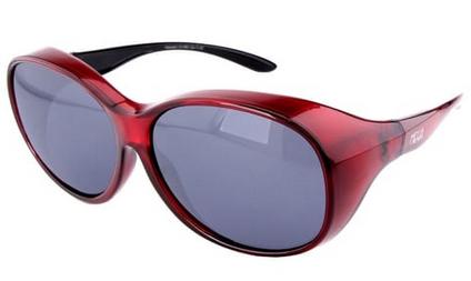 Activesol El Aviador Überzieh-Sonnenbrille MEGA polarisiert UV400 Brille für Brillenträger Rot