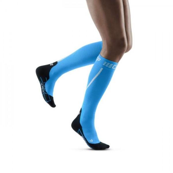 CEP Winter Run Socks Damen Compression Laufsocke - Blau - WP40NU
