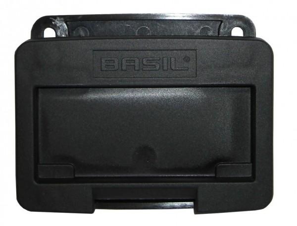Basil Adapterplatte Basil für VR-Körbe schwarz auch f. Klickfix-Halter geeignet