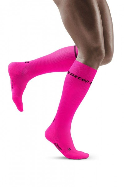 CEP Neon Socks Herren, lange Kompressionssocke - WP30CG Neon Pink