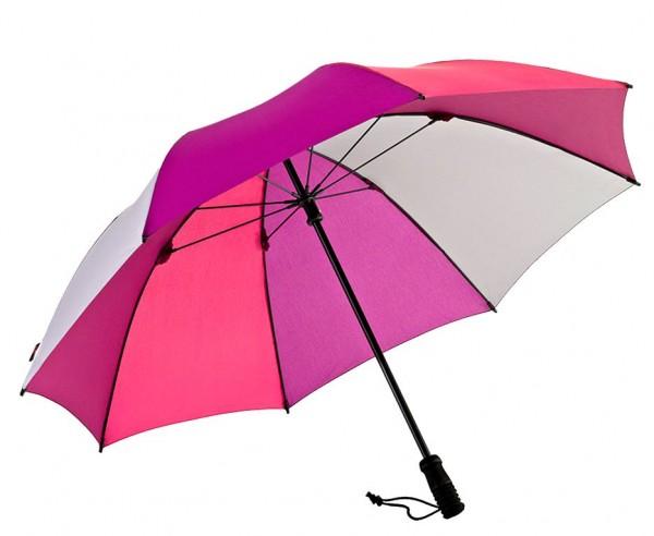 Euroschirm Swing handsfree - Der erste echte handfreie Trekking-Stockschirm - Regenschirm - pink  W2H6