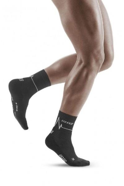 CEP Heartbeat Mid-Cut Socks Herren, kurze Kompressionssocke - WP3C