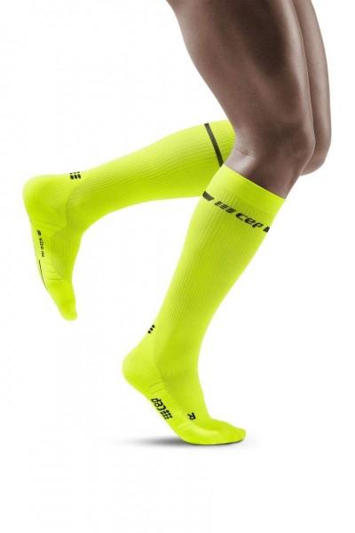 CEP - Neon Socks Herren, lange Kompressionssocke - WP30AG Neon Yellow