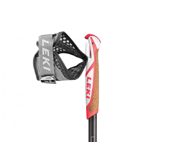 Leki Flash Carbon Nordic Walkingstock Anthrazit-White -Neonred