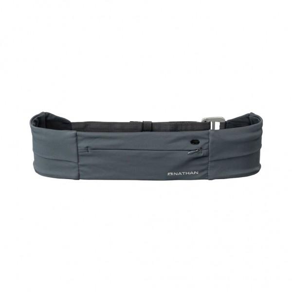 Nathan Adjustable Fit Zipster - Laufgürtel mit Reißverschluss Grau - NS7704-0102