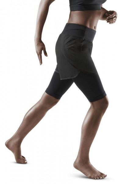 CEP Run 2in1 Shorts 3.0 Damen Laufshorts mit Kompression in Schwarz - W9A15K