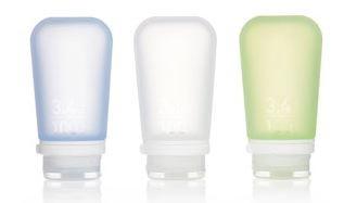 humangear 'GoToob' 3er Pack 3 x 100 ml transparent, grün, blau