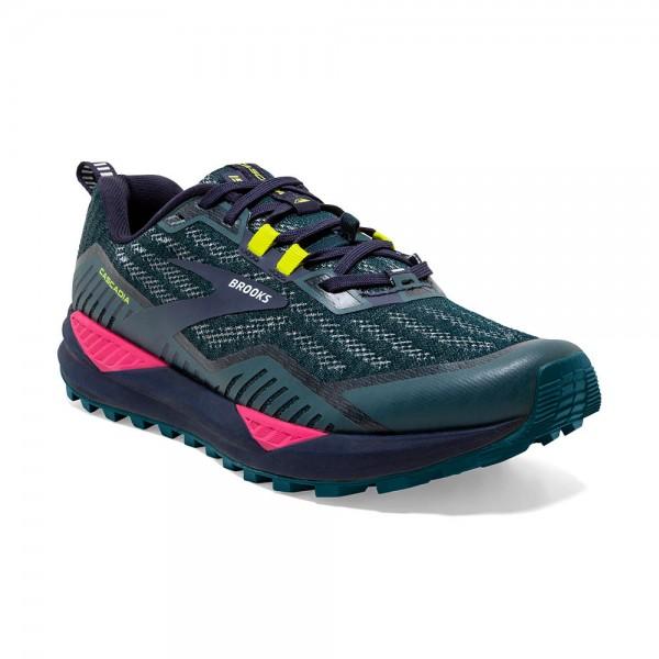 Brooks Cascadia 15 Damen Laufschuh Trail - 120331 1B 429 Navy/Pink/Yellow