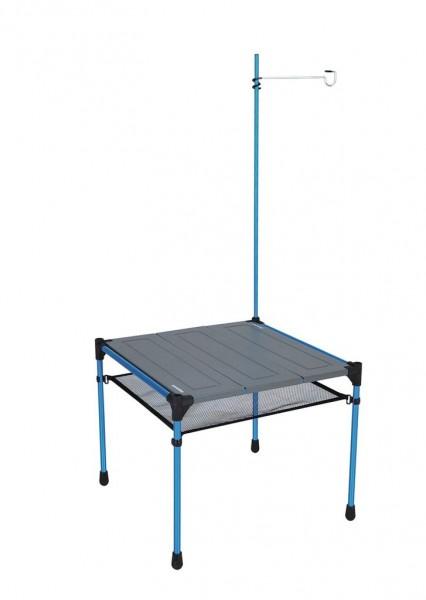 Snowline Cube Family Tabel M3 grey, Aluminium-Falttisch, Campingtisch mit Lampenaufhängung - 3963-000 Aluminium