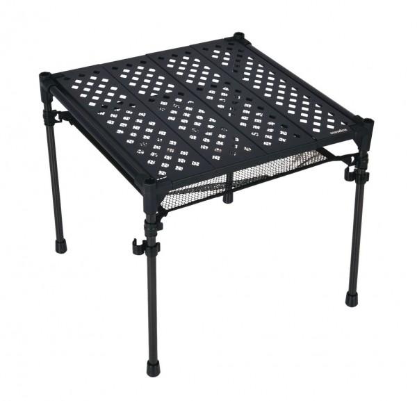 Snowline Cube Backpackers Table, extrem leichter Falttisch mit Carbongestell - 3965-000 Schwarz