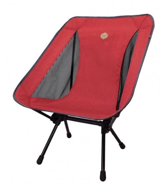 Snowline Chair Lasse Plus Red, Faltstuhl, leichter Campingstuhl aus Aluminium - Red - 3918-600