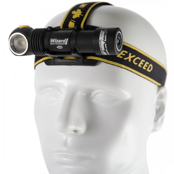 Armytek Wizard Pro Magnet USB Mehrzwecklampe - Stirnlampe (warmes Licht) - F05501SW
