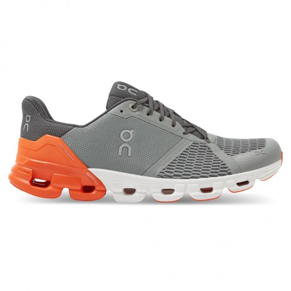 On Cloudflyer Herren Laufschuh Stabilität - 21.99628 Grey/Orange