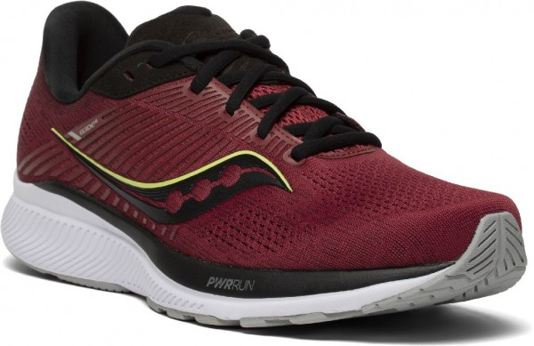 Saucony Guide 14 Herren Laufschuh Stabilität - S20654-30 Farbe Mulberry/Lime