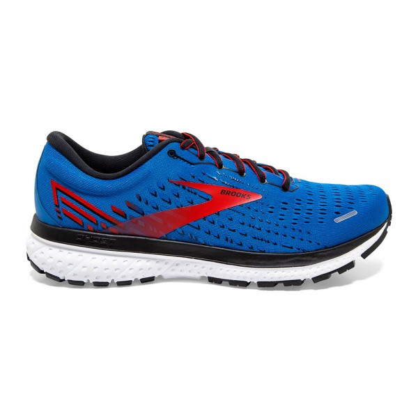 Brooks Ghost 13 Herren Laufschuh Neutral - 110348 1D 435 Farbe Blue/Red/White
