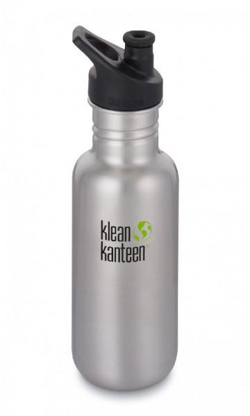 Klean Kanteen 532ml/18oz Trinkflasche Classic mit Sport Cap 3.0