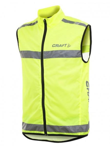 CRAFT Visibility Vest, reflektierende Sicherheitsweste für Läufer und Radfahrer - Neon 192480-1850