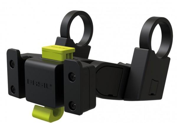 BASIL Lenker-Halter  für Klickfix kombinierbar mit E-Bike Display für Vorderradkorb Klickfix Lenkerbefestigung Ø 22-31,8 mm