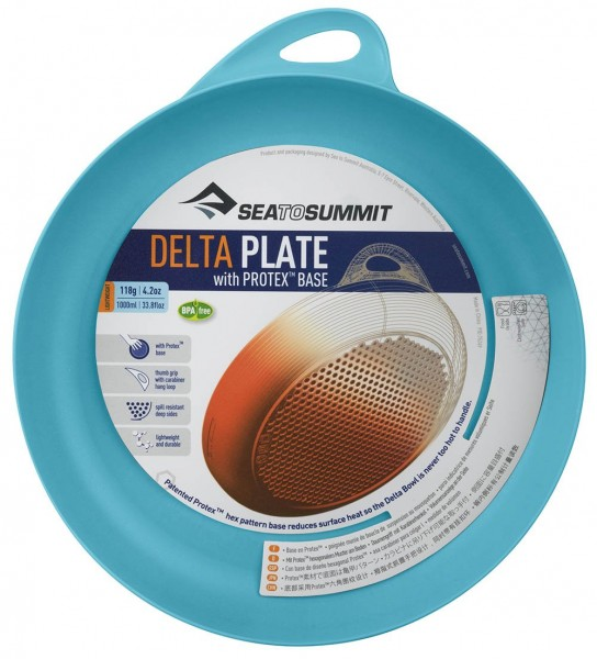 Sea To Summit Delta Plate Campingteller - Türkis