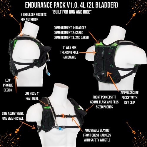 Orange Mud Endurance Pack 70Z - Orange