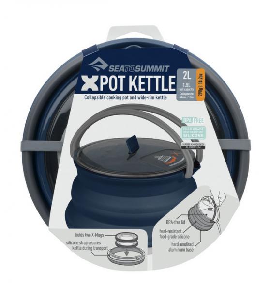 Sea to Summit X-Pot Kettle Campinggeschirr Wasserkessel 2.2 Litre - Navy Blau