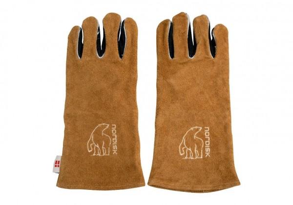 Nordisk Torden Gloves - Grillhandschuh Leder - 149034 braun/schwarz