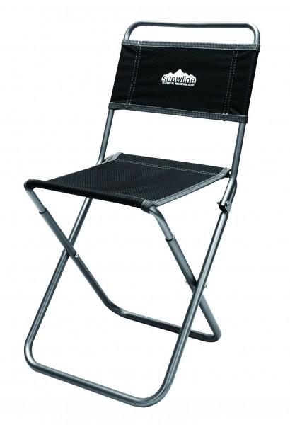 Snowline Alpine Slim Chair XL, Faltstuhl, leichter Campingstuhl aus Aluminium - Black - 3917-500