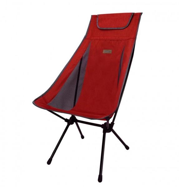 Snowline Chair Pender Wide Red, Faltstuhl mit hoher Lehne, bequemer Campingstuhl - 3919-400