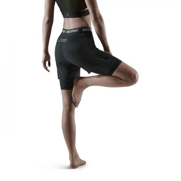CEP Damen Laufhose Training 2 in 1 Shorts - Schwarz -  W8H15B