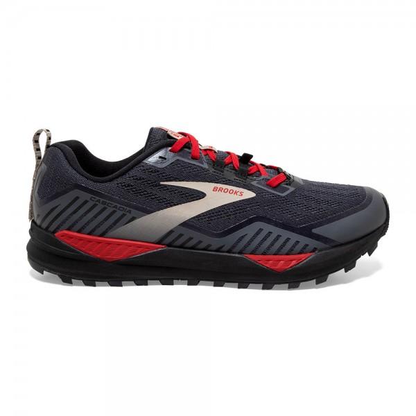 Brooks Cascadia 15 GTX Herren Laufschuh Trail, wasserdicht - 110341 1D 075 Black/Ebony/Red