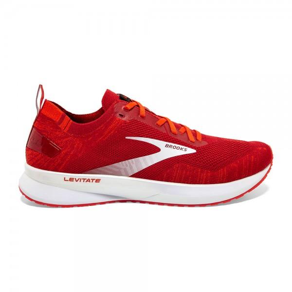 Brooks Levitate 4 Herren Laufschuh Neutral - 110345 1D 672 Farbe Red/Cherry Tomato/White