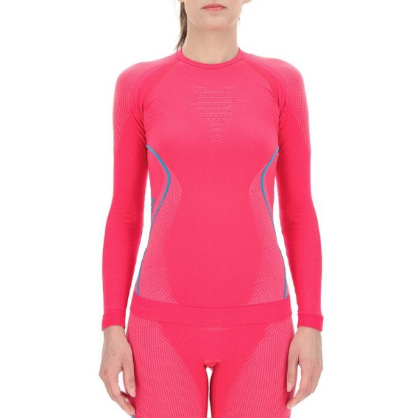 UYN Evolutyon Baselayer Shirts Damen Funktionsunterwäsche LS - U100009-R614 Strawberry/Pink/Turquoise