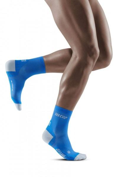 CEP Ultralight Compression Short Socks Herren, kurze Kompressionssocke - WP5BKY Blue/Light Grey