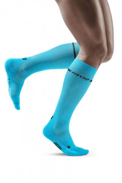 CEP Neon Socks Herren, lange Kompressionssocke - WP30BG Neon Blue