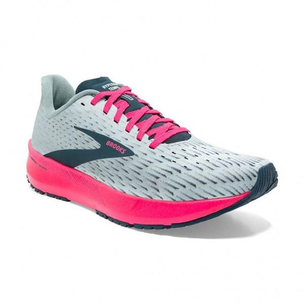 Brooks Hyperion Tempo Damen Laufschuh Wettkampf - 120328 1B 110 - Ice Flow/Navy/Pink