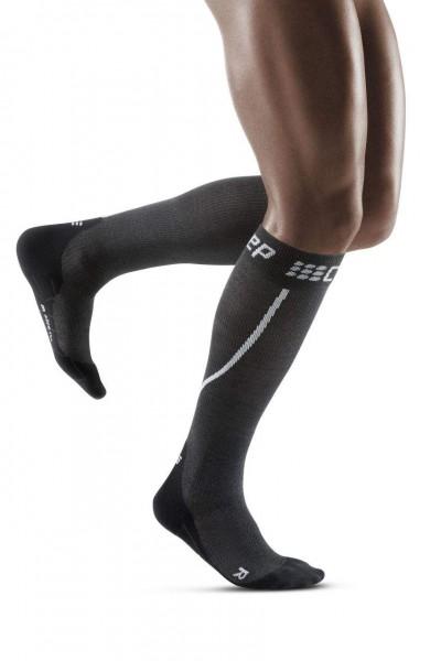 CEP Winter Run Socks Herren Compression Laufsocke - Schwarz - WP50TU