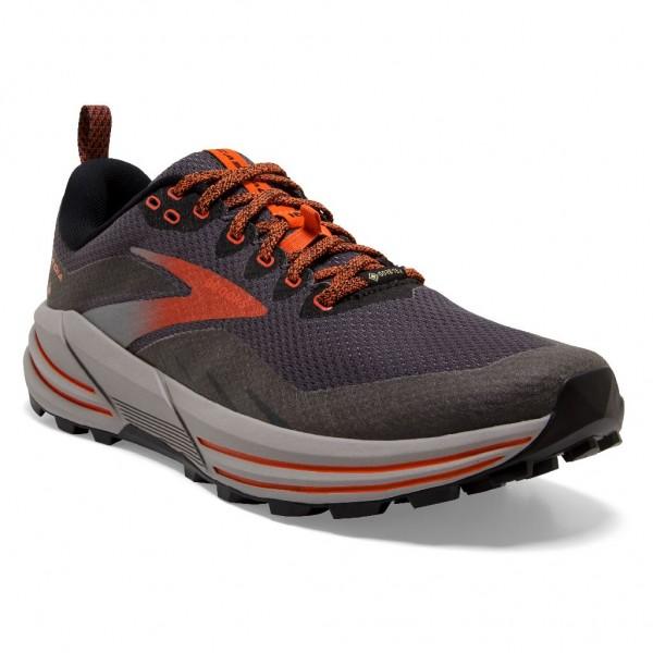 Brooks Cascadia 16 GTX Herren Laufschuh Trail - 110377 1D 060 Black/Ebony/Cinnabar