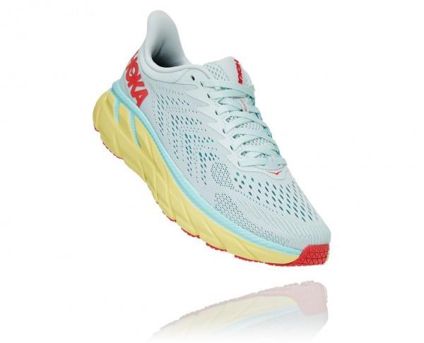 Hoka Clifton 7 Damen Laufschuh Neutral - 1110509-MMHC Farbe Morning Mist / Hot Coral