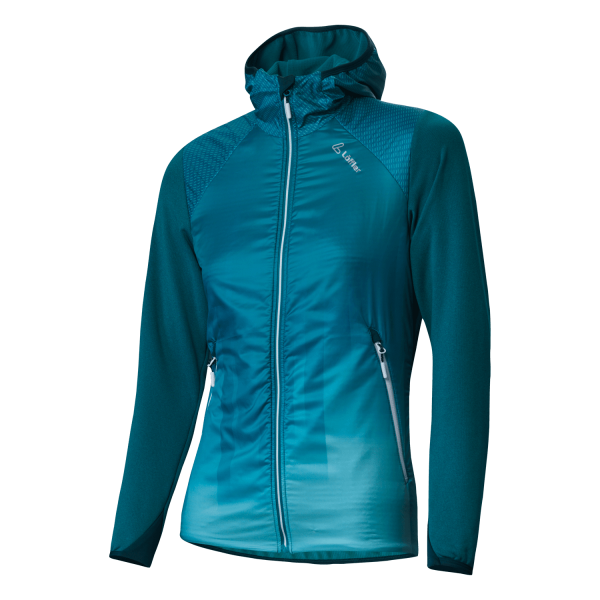 Löffler W Hooded Jacket Speed Primaloft® Next Damen Funktionsjacke - 24162-331 Farbe Lagoon