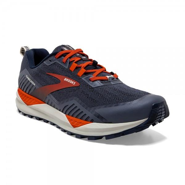 Brooks Cascadia 15 Herren Laufschuh Trail - 110340 1D 418 Navy/Orange/Pelican