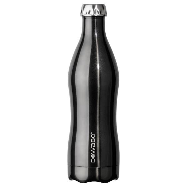 DOWABO Isolierflasche - Edelstahl Flasche - 750 ml Metallic Collection Black - DO-075-met-bla