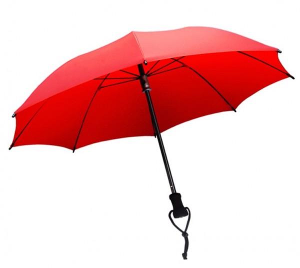 Euroschirm Birdiepal Outdoor - Der stabilste Trekkingschirm der Welt - Regenschirm für extreme Belastungen - W208 - Rot