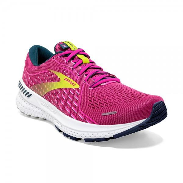 Brooks Adrenaline GTS 21 Damen Laufschuh Stabilität - 120329 1B 664 Raspberry/Pink/Sulphur