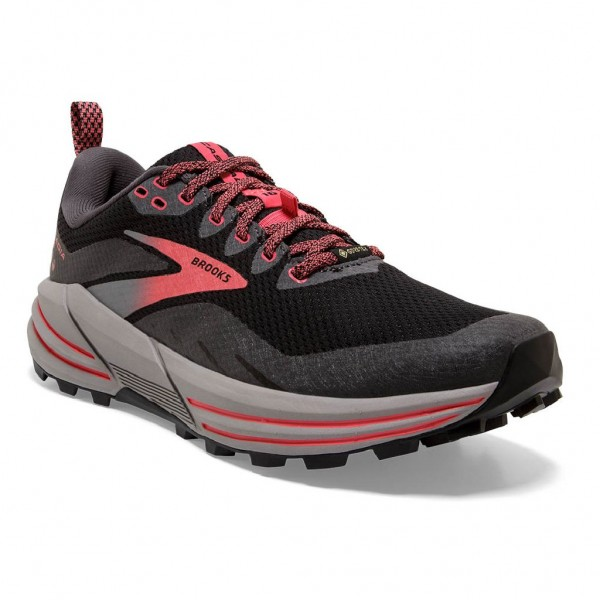 Brooks Cascadia 16 GTX Damen Laufschuh Trail - 120364 1B 071 Black/Blackened Pearl/Coral
