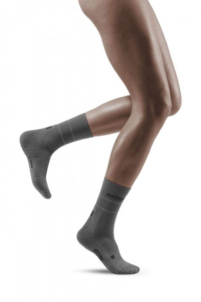 CEP Reflective Mid Cut Socks Damen Compression Laufsocke - Grau - WP4C2Z