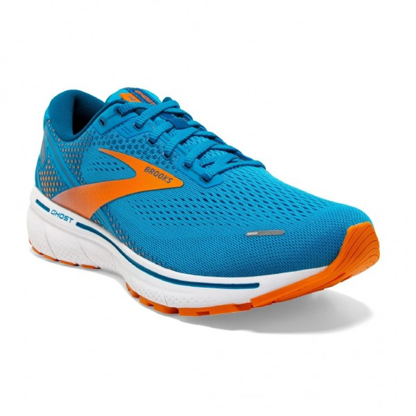 Brooks Ghost 14 Herren Laufschuh Neutral - 110369 1D 418 Vivid Blue/Orange/White