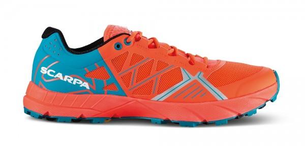 Scarpa Spin Damen Laufschuh Trail - 33060-L-0470 - Farbe Bright Red / Sea